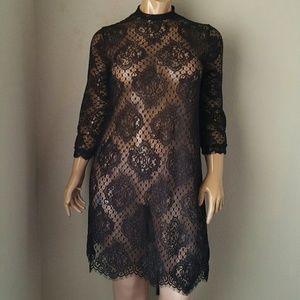 Forever 21 Plus Black Lace Dress